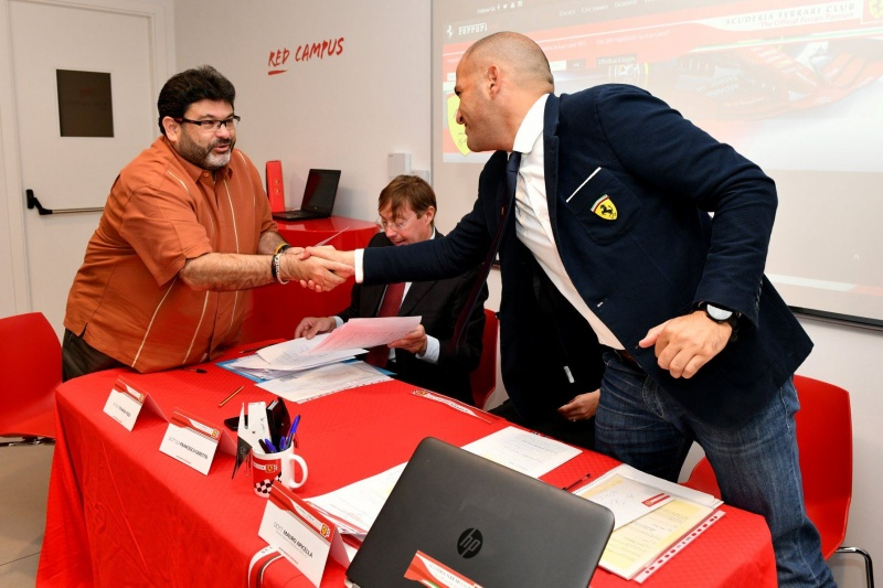 Javier Beltran signing the SFC Agreement